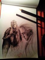Legolas  Thranduil wip by King-Klaus-Wicked
