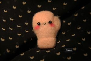 Needle felted boxing glove by FluffyParcel