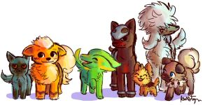 Just some Dog Pokemon