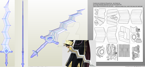 Robin Fire Emblem Smash Levin Sword Papercraft by KaiserLee