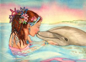 Kristin and Dolphin by B0RN2BWILD