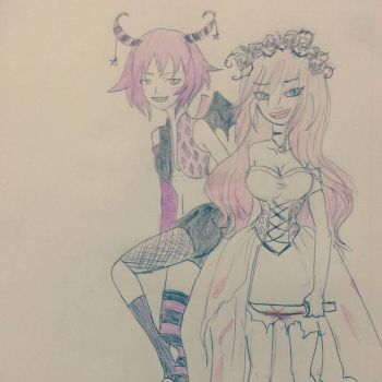 Lil and Stelle by xRoseDrin