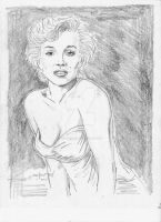 Marilyn Monroe pencils by StevenWilcox