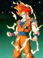 Saiyan God by Raikiri91