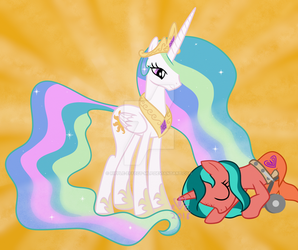 Meeting Princess Celestia by Ripple-Effect-MLP