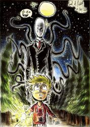 Beware with the Slenderman! by luciano6254