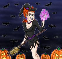 Spectra as witch at Halloween by kaitlynrager