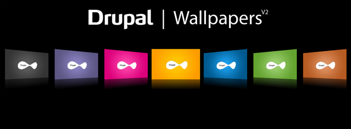 Drupal Wallpapers R2, Dakku by njt1982