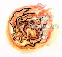 Commission - Year of the Fire Rabbit by Kiriska