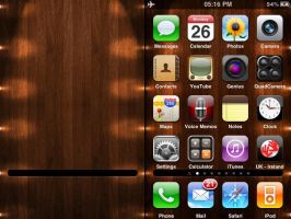 iPhone Wooden Wallpaper by leeislee