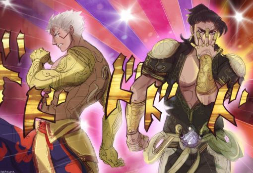 pillar men theme plays in the background by VHKAneweer