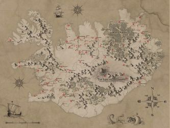 Fantasy Iceland Map by MilanVasek
