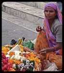 Making Garlands. Uddaipur. India. by jennystokes
