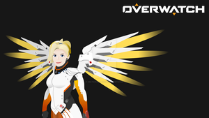 Mercy Vector Wallpaper (1440p) by Miltonholmes