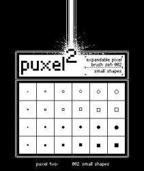 puxel2 - small shapes by glue