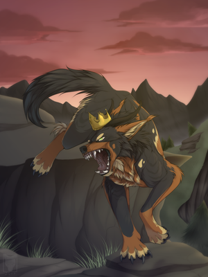 :AT: Don't piss off your king [+ SPEEDPAINT] by Arankay