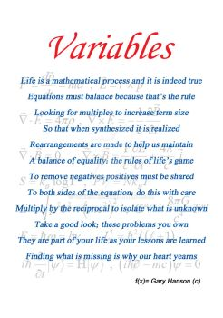 Variables by 4garster