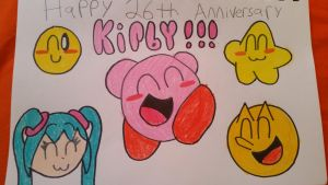 Happy 26th Anniversary Kirby!!! by SuperStarfy2002