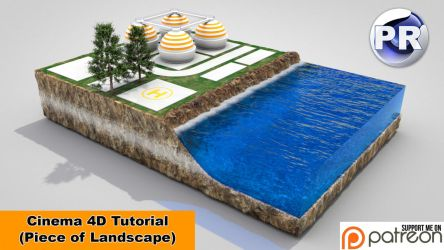 Piece of Landscape (Cinema 4D Tutorial) by NIKOMEDIA