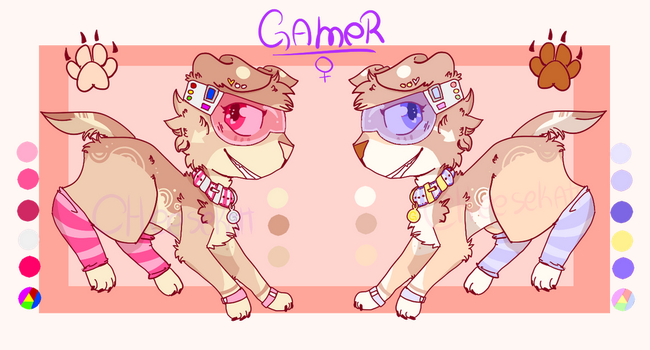 Gamer pup l Adoptable/Closed! by Cheezeo