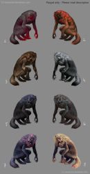 werewolf adoptables - PayPal only by weremoon