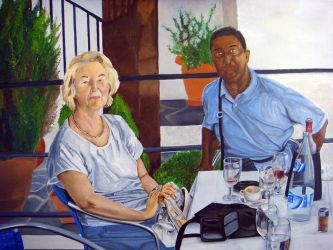 Mum and Dad at Es Baluard Restaurant by mercy