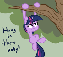 Hang in there Pony by Tess-27