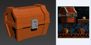 Spelunky Chest WIP by meatfortress