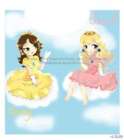 Moment 66: Peach and Daisy by ChibiRedLink