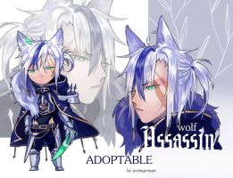 [CLOSED] Auction Adoptable: Assassin wolf by poringrenger
