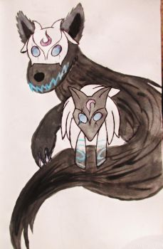 Kindred in watercolor by animecat33