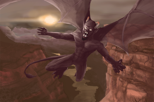 Canyon Demon by IroniaWhite