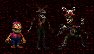 3D MAX / Nightmare BB ,Foxy and Mangle Release!! by HectorMKG