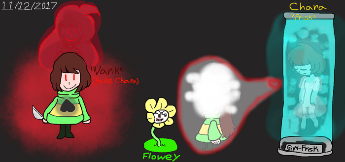 Chara is Really Frisk And Varik is by Elzathehedgehog