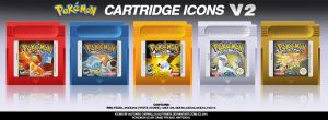 Pokemon GB Cartridge Icons by Alforata