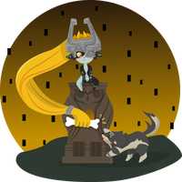 Midna and Link by Libezz