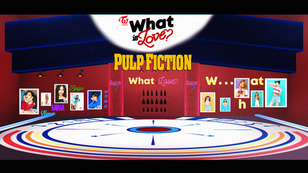 [MMD] TWICE What is Love?(STAGE PULP FICTION DL) by DollyMolly323