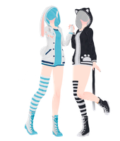 [MMD]Hoodies DL by UnluckyCandyFox