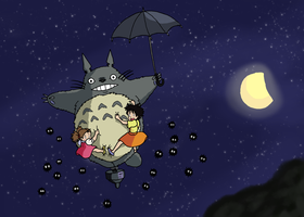 Totoro -Sweet Dreams by Juggernaut-Art
