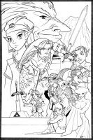 Legend of Zelda OoT  Inks by acarabet