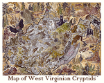 West Virginia Cryptid Map by Kway100