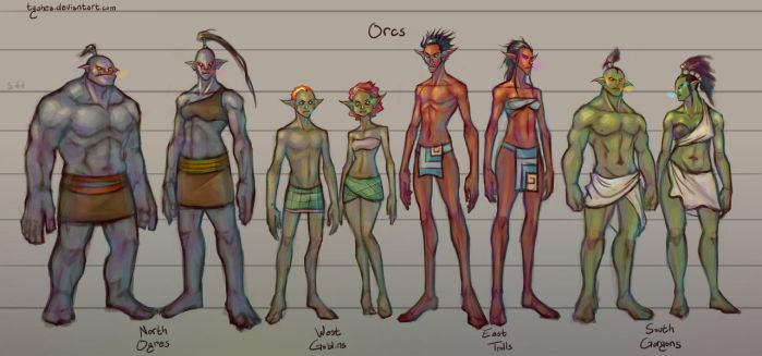 Fantasy Races: [4/4] Orcs by Dyemelikeasunset