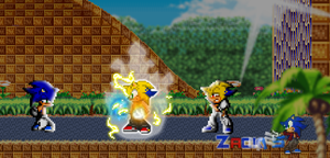 .: Sprite Art #2:. ~ Zack and Seth Vs. ??? by SonicDBZFan4125