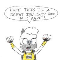 Tangle at the 2018 IDW Sonic Town Hall Panel by dth1971
