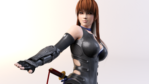 3DS Max - Kasumi Render by SilverMoonCrystal