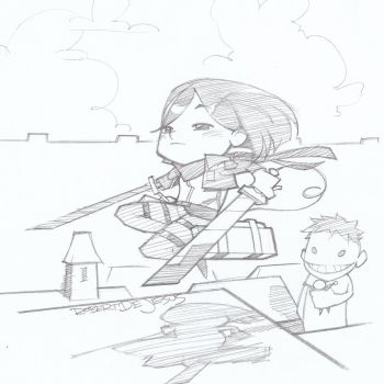 Chibi Mikasa Attack on Titan by Banzchan