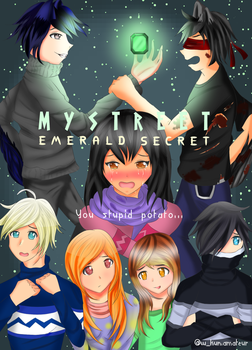 Aphmau MyStreet Emerald Secret Fanart Poster by w-kuntheamateur
