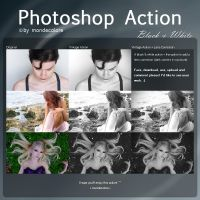 Black and White Photoshop Action by mondecolore