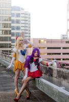 Sailor Venus and Sailor Mars by MeganCoffey