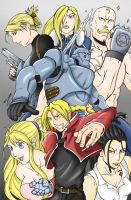 Full Metal Alchemist COLOR by DUNKMASTA